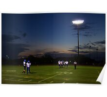 Football Players and Sunset Poster