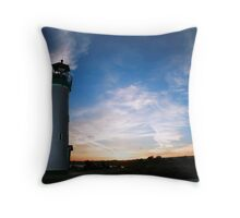 Santa Cruz Harbor Light House Throw Pillow