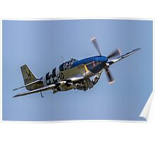 P-51C Mustang 43-25147 NL487FS  Poster