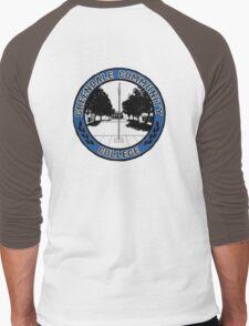 Greendale Community College Logo Men's Baseball ¾ T-Shirt