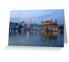 Golden Temple At Sunset Greeting Card
