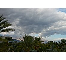 Palm Springs Storm Front Photographic Print