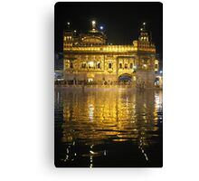 The Golden Temple At Night Canvas Print