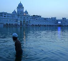 A Bathing Sikh by Jamie Mitchell