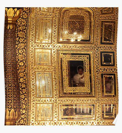 Golden Sikhism Poster