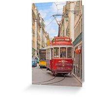 """eléctrico"" . Lisbon Greeting Card"