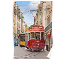 """""""eléctrico"""" . Lisbon Poster"""