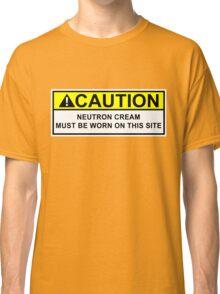 WARNING Neutron Cream Classic T-Shirt
