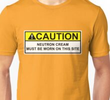 WARNING Neutron Cream Unisex T-Shirt