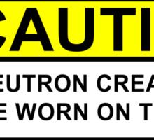 WARNING Neutron Cream Sticker