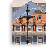 lisbon street lamps. Praça Duque da Terceira. Canvas Print