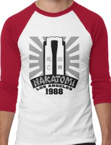 Nakatomi, 1988 (Black Print) Men's Baseball ¾ T-Shirt