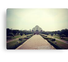 Lotus Temple Canvas Print