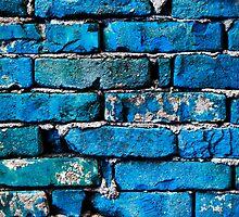 Blue Brick Wall by Cristian Radu Tanta