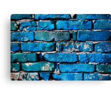 Blue Brick Wall Canvas Print