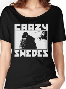 Crazy Swedes (White Print) Women's Relaxed Fit T-Shirt