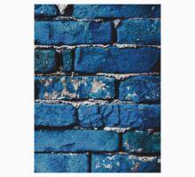 Blue Bricks Wall Baby Tee