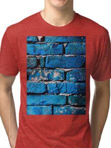 Blue Bricks Wall Tri-blend T-Shirt