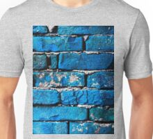 Blue Bricks Wall Unisex T-Shirt