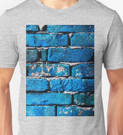 Blue Bricks Wall Unisex T-Shirt