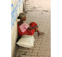 Homeless Woman Photographic Print