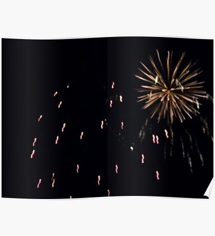 Pop goes the Fireworks Poster