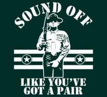 Sound Off (White Print) by GritFX