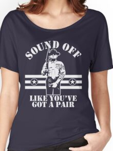 Sound Off (White Print) Women's Relaxed Fit T-Shirt