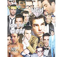 zachary quinto collage Photographic Print