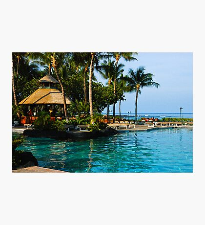 Hawaii Ocean Front Pool View Photographic Print