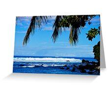 Hawaii Ocean View Greeting Card