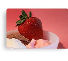Strawberry on Neapolitan  Metal Print