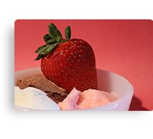 Strawberry on Neapolitan  Canvas Print