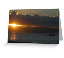 Hawaii Sunset Greeting Card