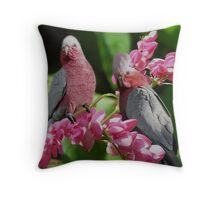 GALAIYA BIRDS >ROSE BREASTED COCKATOOS>>(FEMALE AND MALE) PILLOW AND OR TOTE BAG Throw Pillow