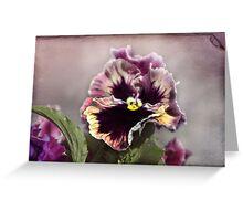 Purple Face Greeting Card