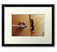 Grayson's Bathroom Buddies Framed Print