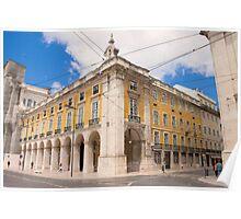 praça do comércio e rua da prata.Lisbon Poster