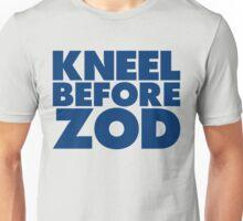 Kneel Before Zod (Blue Print) Unisex T-Shirt