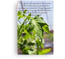 The Good Soil Canvas Print