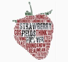 The Beatles - Strawberry Fields Forever Wordcloud Kids Clothes