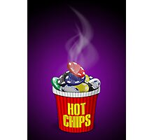 Hot Chips! - Purple Photographic Print