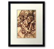surreal relationship 2 drawn from imagination Framed Print