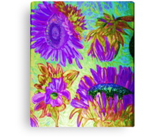Sunflower Digital 1 Canvas Print