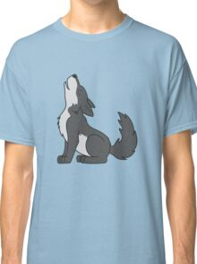 Gray Howling Wolf Pup Classic T-Shirt