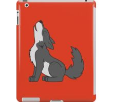 Gray Howling Wolf Pup iPad Case/Skin