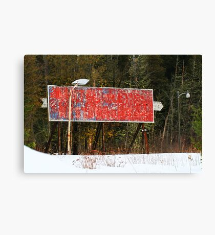 Sign of the Times Canvas Print