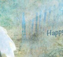 "Seascape ""Happy Hanukkah"" ~ Greeting Cards Plus More! Sticker"