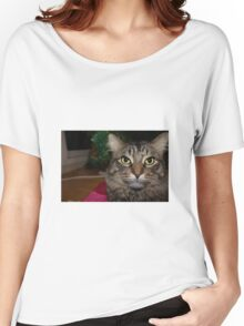 Cute Christmas Cat Women's Relaxed Fit T-Shirt