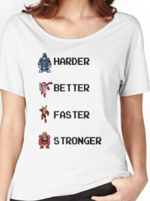 Harder Better Faster Megaman Women's Relaxed Fit T-Shirt